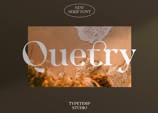Quetry font free download