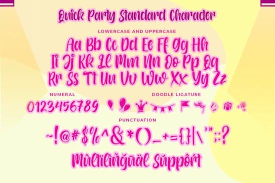 Quick Party font