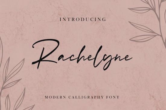 Rachelyne font free download