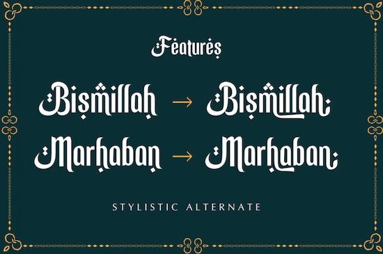 Ramadhan Mubarok font download