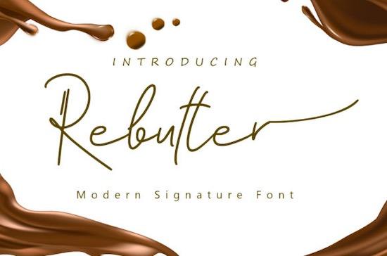 Rebutter font free download