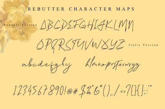Rebutter font free