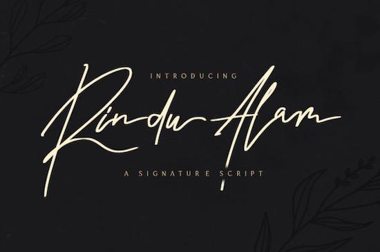 Rindu Alam font free download