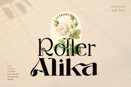 Roller Alika font free download