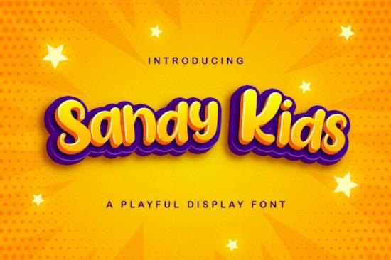 Sandy Kids font free download