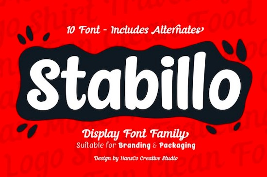 Stabillo font free download