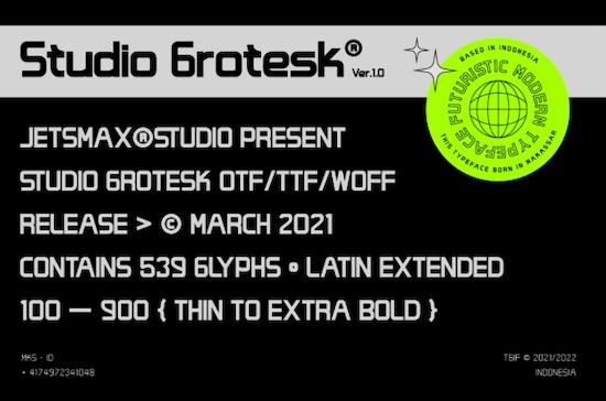 Studio Grotesk font download