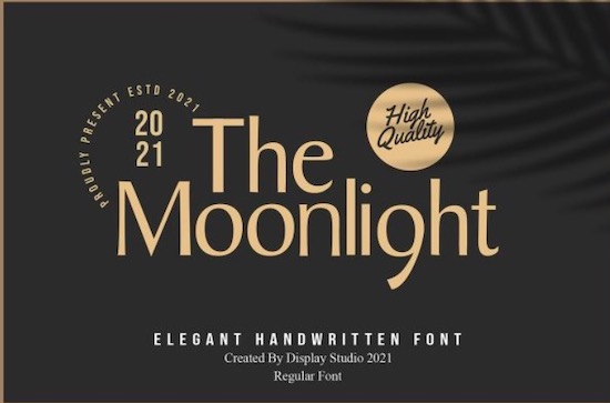 The Moonlight font free download
