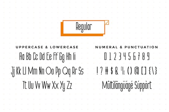 The Orange font free download