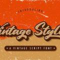 Vintage Style Font free download