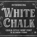White Chalk font free download