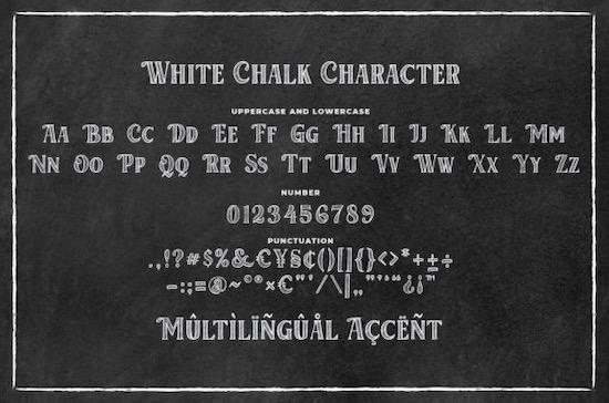 White Chalk font free