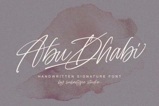 Abu Dhabi font free download