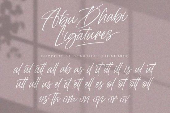Abu Dhabi font free
