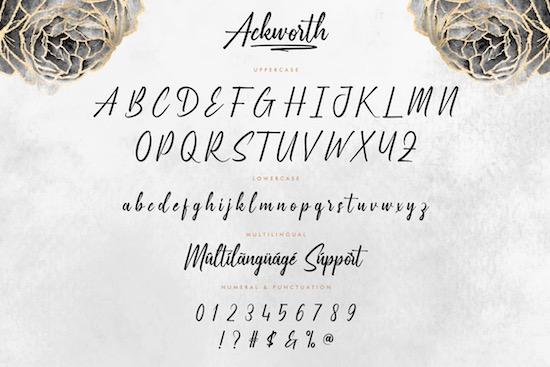 Ackworth font download