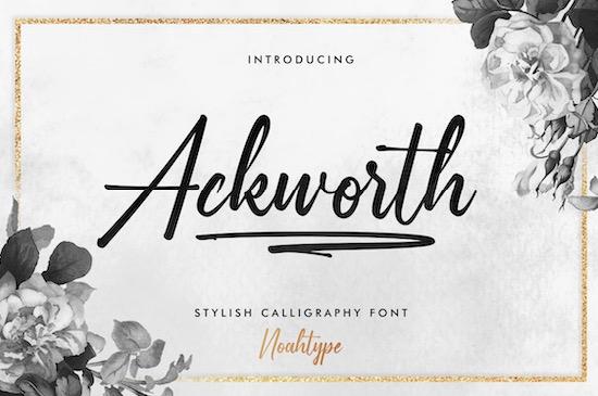 Ackworth font