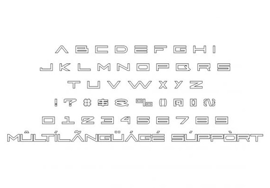 Active Space font free download
