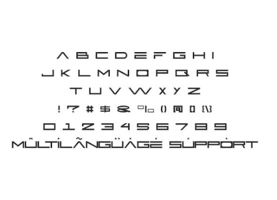 Active Space font free