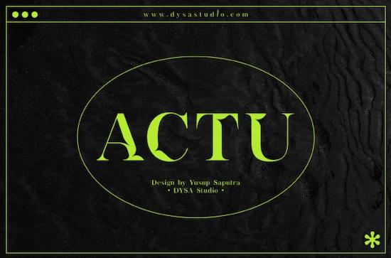 Actu font free download