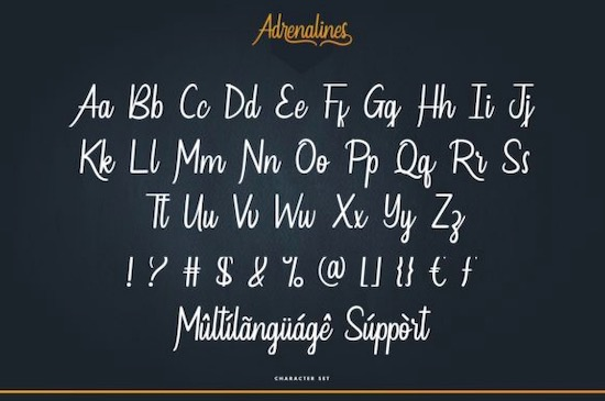 Adrenalines font download