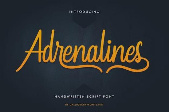Adrenalines font free download