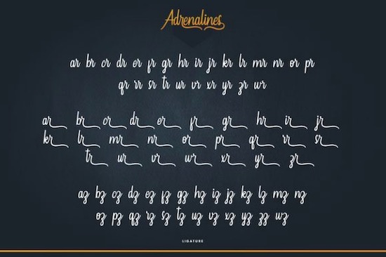 Adrenalines font free