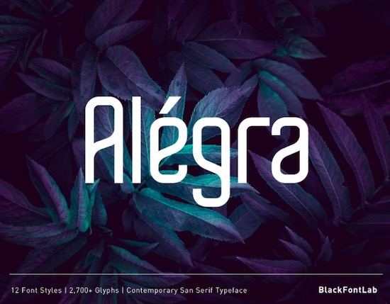 Alegra font free