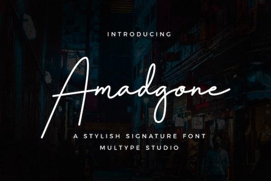 Amadgone font download
