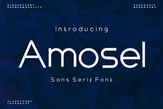 Amosel font free download