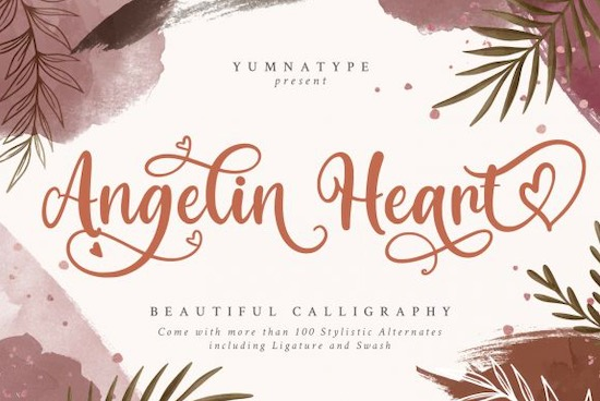 Angelin Heart font free download