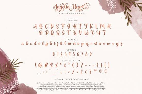 Angelin Heart font free