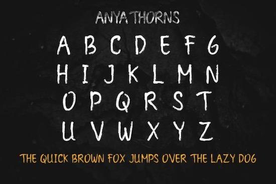 Anya Thorns font download