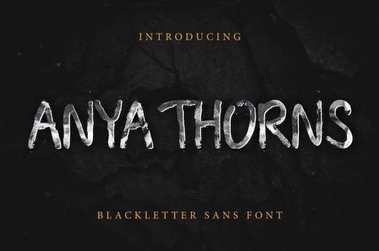 Anya Thorns font free download
