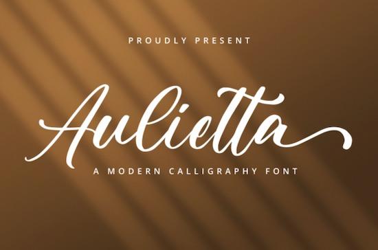 Aulietta font free download
