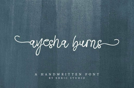 Ayesha Burns font free download