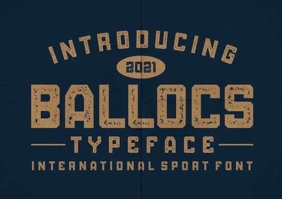 BALLOCS font free download