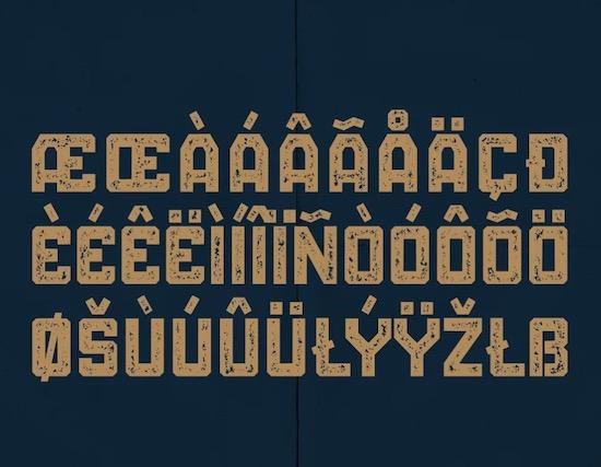 BALLOCS font