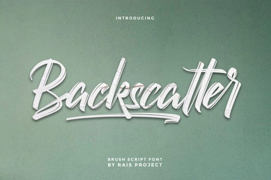 Backscatter font free download