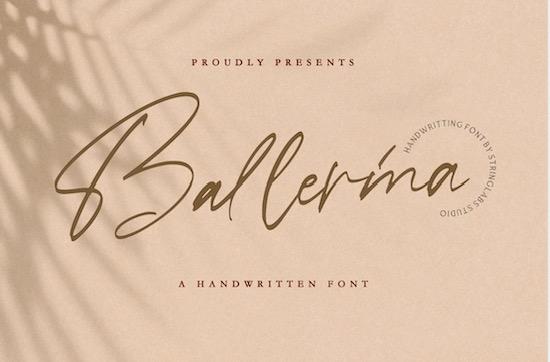 Ballerina font free download