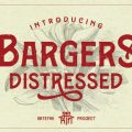 Bargers Distressed font free download