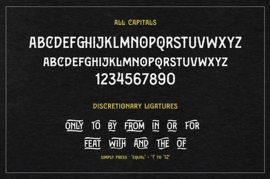 Bargers Distressed font free
