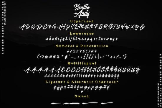 Battle Andy font download
