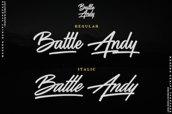 Battle Andy font free