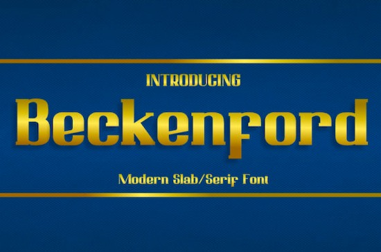 Beckenford font free download