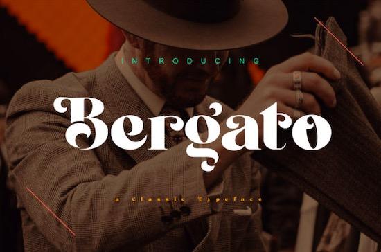 Bergato font free download