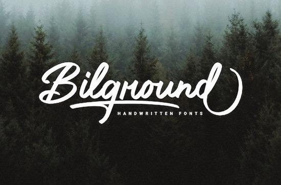 Bilground font free download