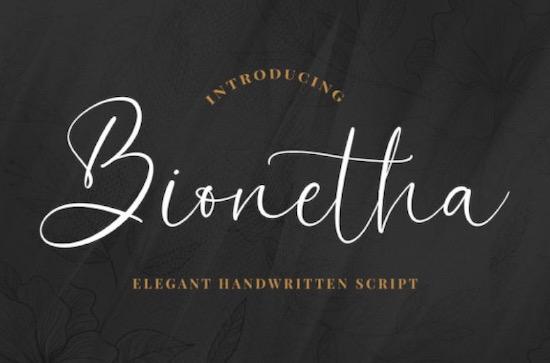 Bionetha font free download