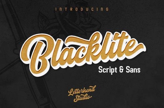 Blacklite font free download