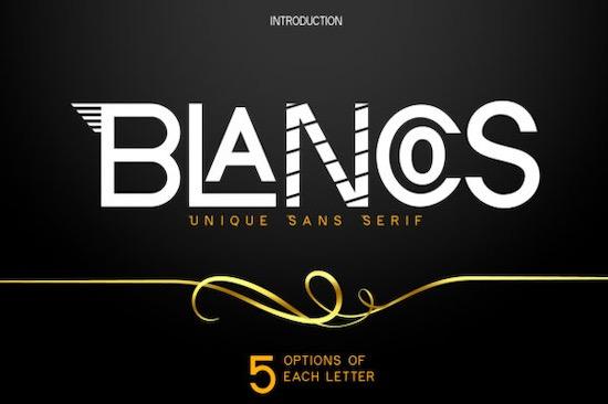 Blancos font download