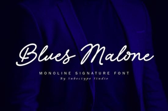 Blues Malone font free download